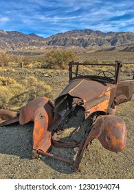 An old rusted car in ghost town Ballarat, Death Valley National Park, California, USA