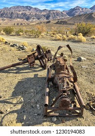 An old rusted deatils in ghost town Ballarat, Death Valley National Park, California, USA