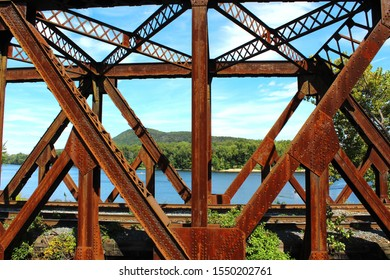 Old Rusted Train Trestle Beams