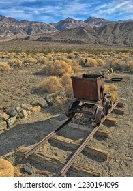 An old rusted trolley in ghost town Ballarat, Death Valley National Park, California, USA
