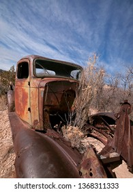 Old rusted truck in the desert