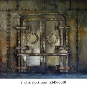 Old Rusted Vault door