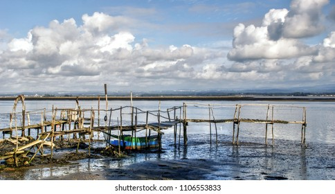 Old rustic pier in Aveiro, Portugal