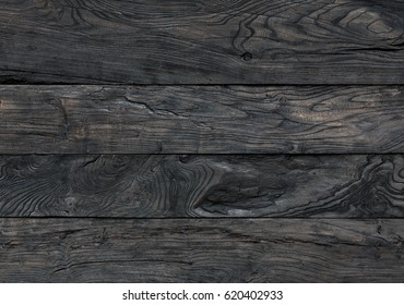 Old Rustic Weathered Wooden Background In Black