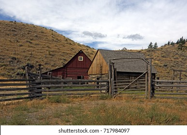 Old rustic wooden barn in bc