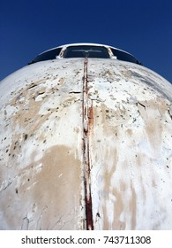 Old rusty airplane