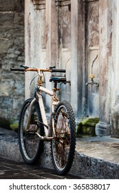 Old rusty bicycle in Rhodes