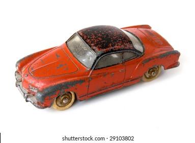 Old rusty car toy