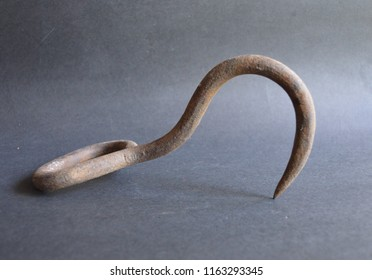 Old Rusty Cast Iron Meat Hook Hay Hook