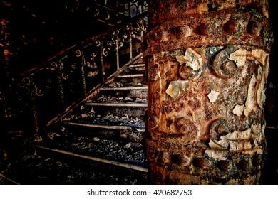 Old rusty column