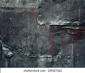 Old rusty dark metal background