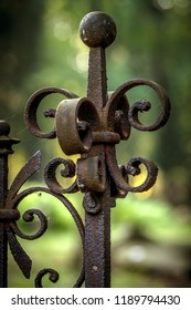 old rusty decorative fence