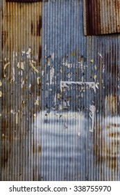 Old rusty galvanized background (bright version)