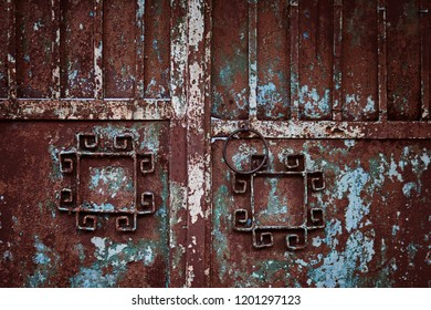 Old rusty gate texture