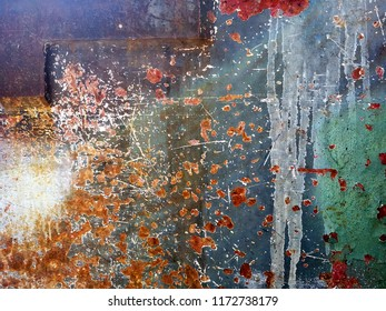 Old Rusty Grunge Metal Texture Background