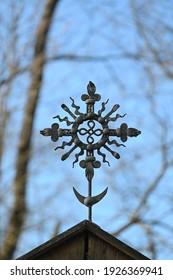 old rusty handmade metal cross