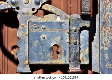 old rusty iron lock texture, lock, old locksmith's trade product,feeling of suicide, depression, anguish, loneliness, fear, death,  imprisonment, confinement, anguish, prisoner,