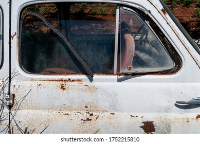 Old and rusty italian car