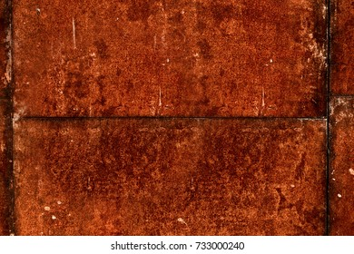 Old rusty metal texture. Rusty metal background. Deep corrosion. Background and texture