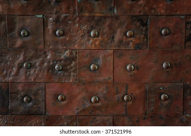 old rusty metal tile background horizontal background