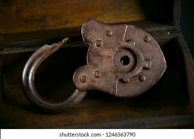 old rusty padlock. Vintage style