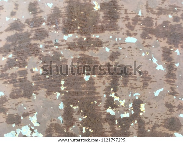 Old rusty paint metal plate texture for background