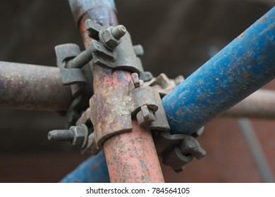 old rusty pipe assemblies