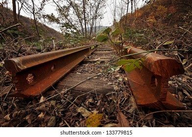 Old rusty railway