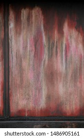 Old rusty red metal plate texture background