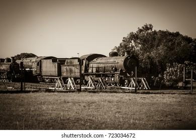 old rusty train