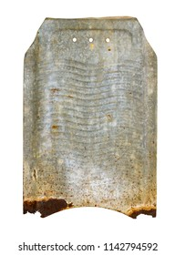 old rusty washboard made of tin
