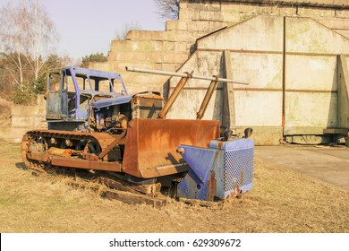 Old rusty and weathered bulldozer