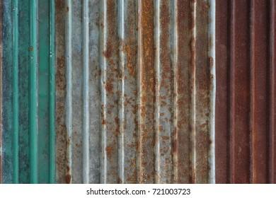 Old rusty zinc wall, rusty zinc barn wall