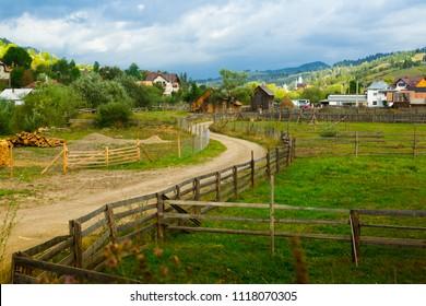 Old Sadova village is in Karpaty in Romania.