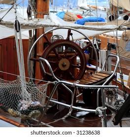 old sailing boat in the golf of la spezia