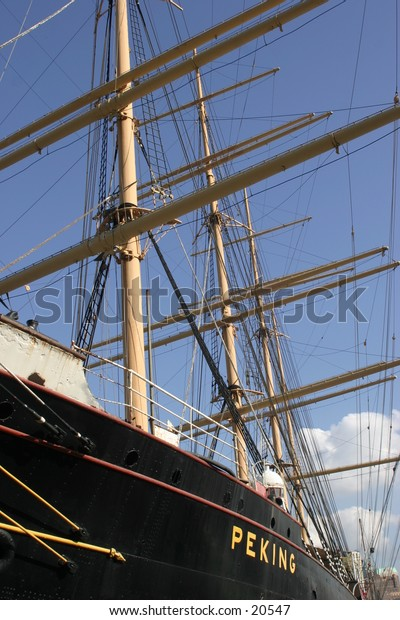Old Sailing Ship in New York Harbor