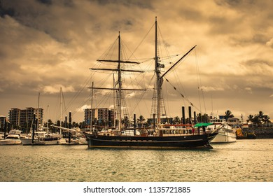 Old sailing vessel in harbour