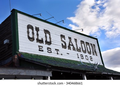 The Old Saloon, a Montana landmark, was established in 1902 and has served cowboys and ranch hands for over a hundred years.  Saloon is located in Paradise Valley, Montana.