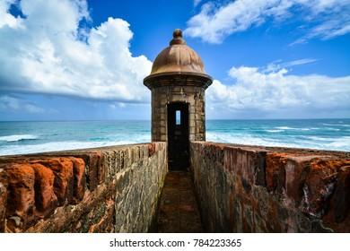 Old San Juan Puerto Rico, Castillo de San Cristóbal, Sentry Box, US Territory