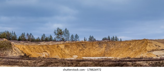 Old sand pit under the open sky