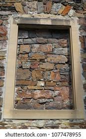old sandstone masonry