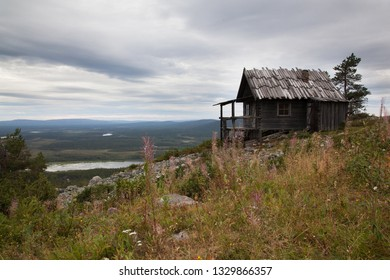 Old Santa Claus house on the top of Levitunturi fell on autumn. This cabin is near of ski slopes and it is very popular place for tourist in all seasons