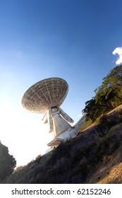 old satellite transmission earth-station