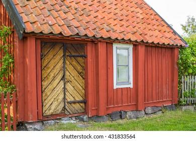 Old Scandinavian house facade