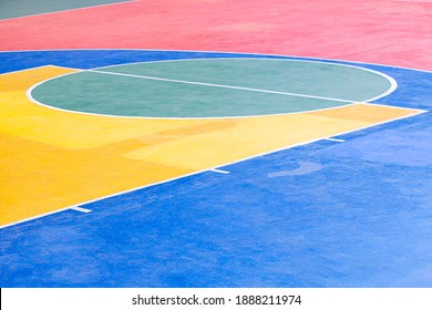 Old school basketball court background