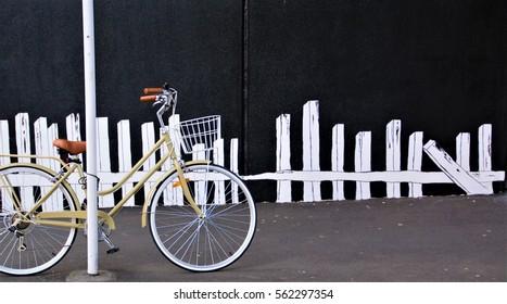 Old School Bike against an artistic background