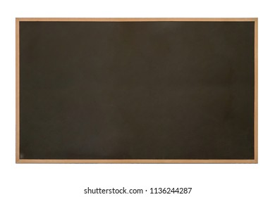 Old school blackboard for using with chalk on isolated on white background, used chalkboard texture, concept of back to school or space for expression or drawing messaging idea
