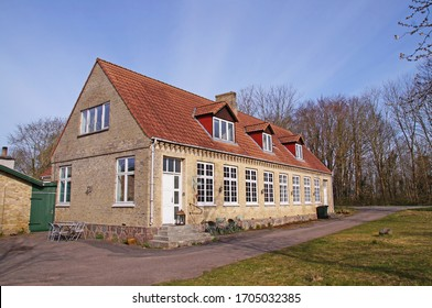 Old school in a classic building from the 19th century sen on Lolland, Denmark