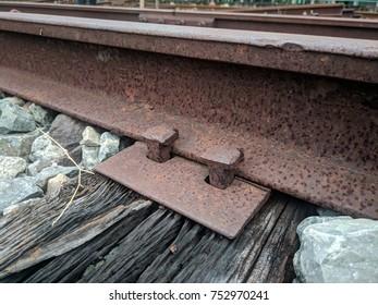old school railroad rails