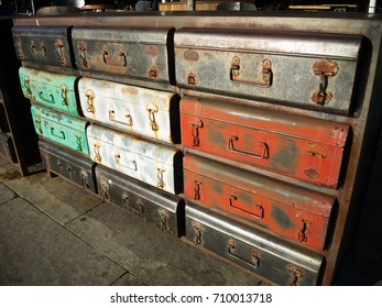 Old school steel cabinet.